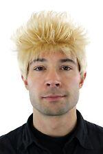 Perruque,Wig,Cheveux courts,blond clair,debout cheveux,Longueur : ca. 25cm,