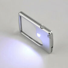 Wholesale Credit Card Led Magnifier loupe with light Brand New magnifying glass