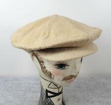1920s Eddie Cantor label Tan Wool Mens newsboy hat - National Hat Co