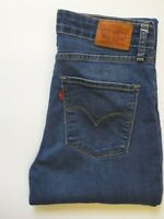 LEVI'S 721 JEANS WOMENS HIGH RISE SKINNY FIT W30 L34 MID BLUE STRAUSS LEVR004