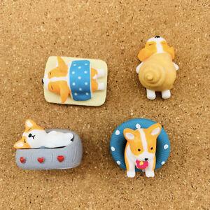 4pcs corgi dog shape Push Pins,Thumbtack,home decoration,photo wall,stationery