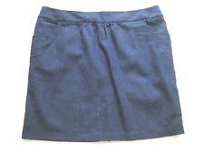 Joules ladies dark blue herringbone patterned short skirt Sz 18 UK