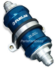 Fuelab 81813-3 Fuel Filter 40 Micron -10AN Blue