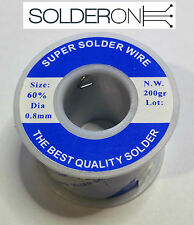 Solder 0.8mm 200g Roll 60/40 Resin Core - AU STOCK
