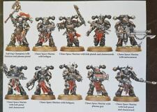 Warhammer 40000 Chaos Space Marines X10 from start collecting box