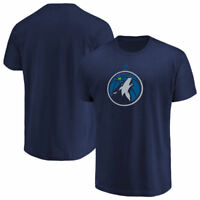 Minnesota Timberwolves Mens Blue Logo 2 Basketball Short Sleeve T Shirt