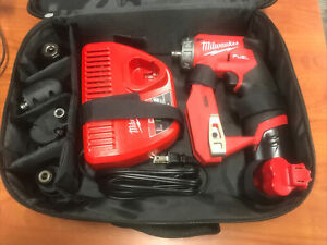 Milwaukee 2505-20 M12  Drill/Driver w/Attachments, 2 Batteries And Charger