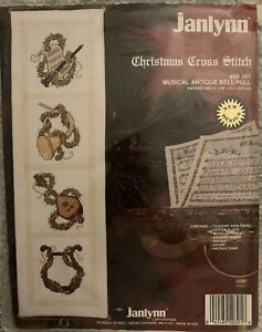 Janlynn Musical Antique Bell Pull Christmas Cross Stitch Kit #50-391 New