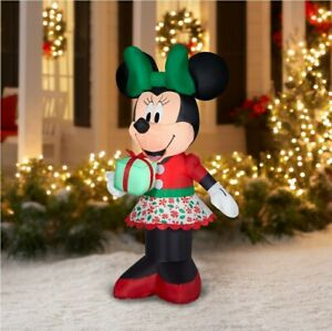 Christmas Decorations Minne Mouse Disney Air Blown Inflatable Yard Decor