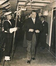 "René Coty 1955 - A Bord du ""Dannebrog"" Matelot Arme Danois - PR 711"