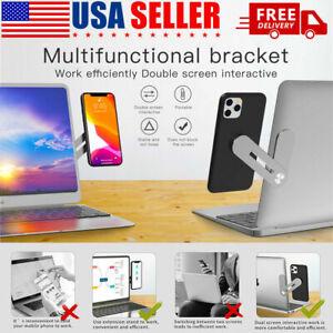 📲 Laptop Side Mount Clip Phone Holder for Dual Screen Magnetic Adjustable 📲