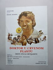 MON ONCLE BENJAMIN / JACQUES BREL(1969/FRANCE) ORIGINAL YUGOSLAVIAN MOVIE POSTER