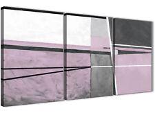 3 PEZZI Grigio Lilla Dipinto Tela Camera da letto ART DECOR-Astratto 3395 - 126 cm