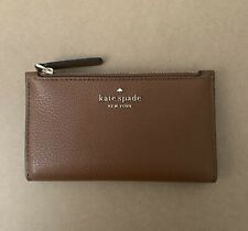 KATE SPADE Jackson STREET MIKEY Small Slim Bifold Brown  Leather WALLET New