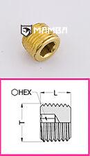 Brass Adapter Fitting Hollow Hex Head Plug 1/4 BSP Male (50 pcs)