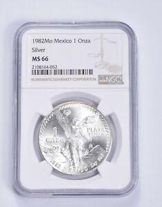 MS66 1982-Mo Mexico 1 Onza Silver Libertad - Graded NGC *260