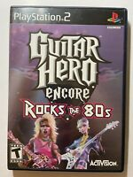 Guitar Hero Encore Rocks the 80s (PlayStation 2) PS2 -w/ manual- FAST SHIPPING