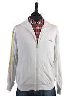 Vintage ADIDAS Raincoat Windproof Lightweight Jacket White Chest 44'' SW1384