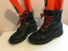 DR MARTENS LEATHER ANKLE BLACK SIZE 4 WOMENS LADIES BOOTS SHOES MILITARY