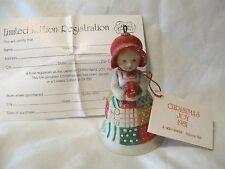 Holly Hobbie Christmas Joy Limited Edition Bell Figurine Mib 1981