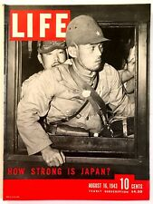 Vintage Life Magazine August 16, 1943- Japanese Soldiers, WWII