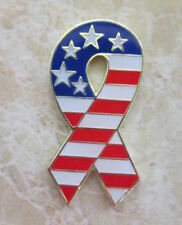 SUPPORT OUR TROOPS YELLOW RIBBON AMERICA USA LAPEL PIN BADGE ARMY NAVY (MB-12)