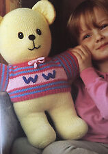 KNITTING PATTERN Jean Greenhowe Womans Weekly Teddy Bear Doll 38cm tall RARE