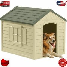 New listing Dog Pet House Xxl Outdoor Large All Weather Durable Shelter Kennel Cage Vinyl Do