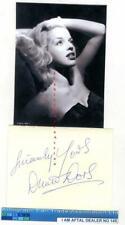 More details for diana dors vintage signed page aftal#145