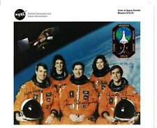 More details for sts-70 full crew hand signed nasa portrait litho - space shuttle astronauts