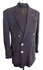 Gian Marco Venturi Blazer Topcoat Size 41 Double Breasted Steampunk Gold Buttons