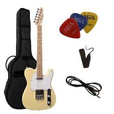 E-Gitarre TC-creme, Set mit  Tasche + Band + 3xPiks/Plektren + Anschlußkabel 11