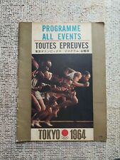 Tokyo Olympic 1964 All Events Program