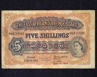 East Africa 5 Shillings 1954  P- 33