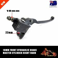 Motorbike Right Hydraulic Brake Master Lever Cylinder 10mm Honda Yamaha Suzuki