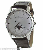 Jaeger LeCoultre Master Ultra Thin Moon 39 Mens Watch Moonphase
