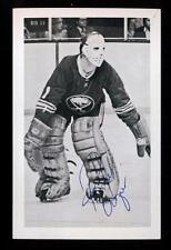 Vintage Roger Crozier Buffalo Sabres Goalie Autograph Signed Original Postcard!