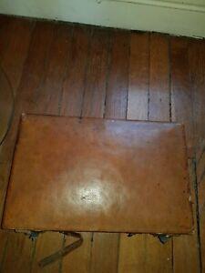 Ancienne malette anglaise courrier en cuir