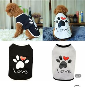 Pet Clothes For Small Dogs/Cats Pawv Print Shirt Cute Outfit