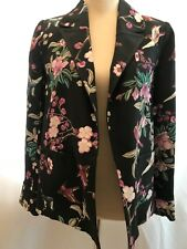 BNWT BIBA Ladies' Beautiful Birds of Paradise Black Blazer Size UK  8 Save £65 !