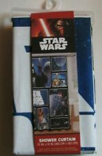 """Star Wars Disney Classic Pattern Shower Curtain 72"""" X 72"""" New In Package"""