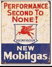 Mobil Gas Gasoline Service Garage Performance Vintage Retro Metal Tin Sign New