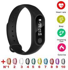 Montre Noire complète + 1 bracelet vert offert - Montre Connectée Smartwatch