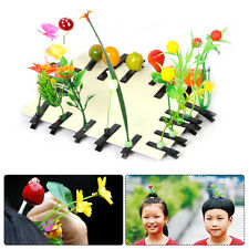 New 5Pcs Funny Cute Grass Leaf Plant Sprout Flower Headwear Hairpins Hair Clips