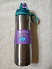 Pogo Vacuum Stainless Steel Water Bottle with Chug Lid, Teal, 26 Oz