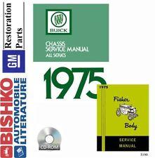 1975 Buick Lesabre Regal Riviera Skylark Shop Service Repair Manual CD OEM Guide