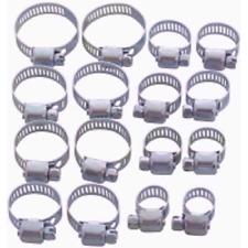 Amtech Metal 16pc Assorted Hose Clamps  Clips Steel Pipe Clamp Assortment