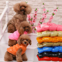 Pet Dog Clothes Winter Warm Jacket Puppy Dog Cat Fleece Vest Coat Apparel