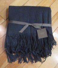 """Restoration Hardware Indigo Blue 100% Cashmere Throw Blanket 50"""" X 70"""" 16210169"""