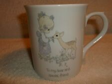 "Precious Moments Cup Mug 1985 "" To My Dear And Special Friend"""